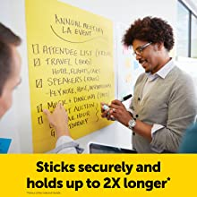 Sticks securely and holds up to 2X longer