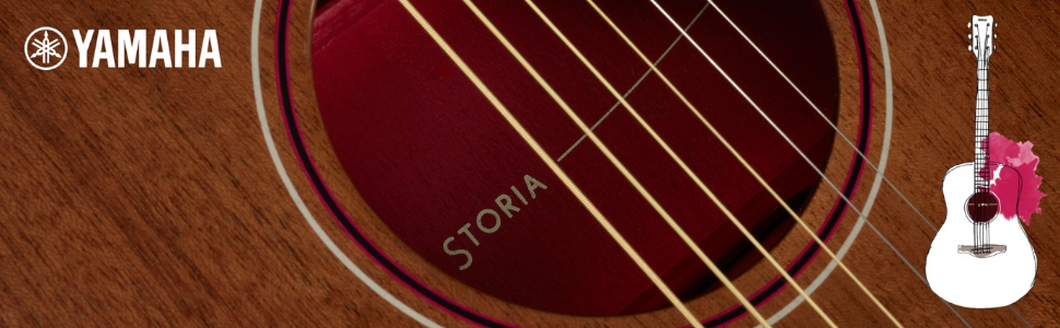 Yamaha STORIA III Guitarra Western electroacústica con un sonido ...