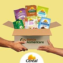 cereal sostenibile, colletta alimentare cereal, cibo sostenibile, senza lievito, senza glutinee