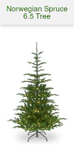 Norwegian Spruce w/white lights