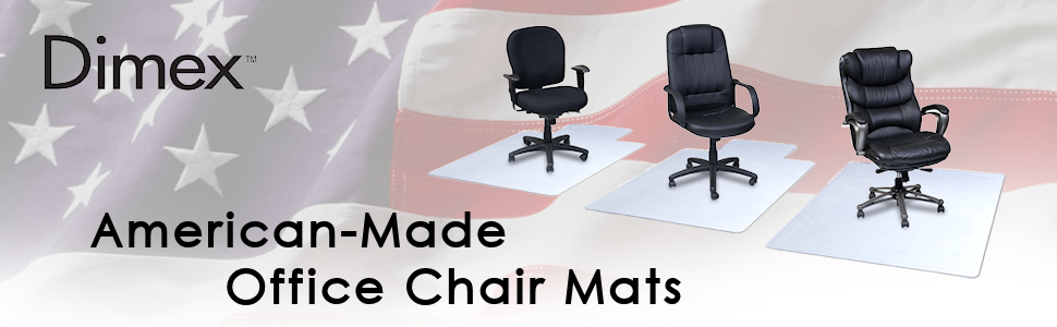Amazon Dimex 36 x 48 Clear Office Chair Mat With Lip For – American Made Office Chairs