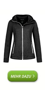 Chaqueta deportiva de lana de merino, chaqueta de lana merino, chaqueta con capucha, chaqueta funcional, deporte