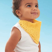 Lily Cotton Yellow Yarn Baby Bib