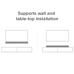 Supports wall and table top installation
