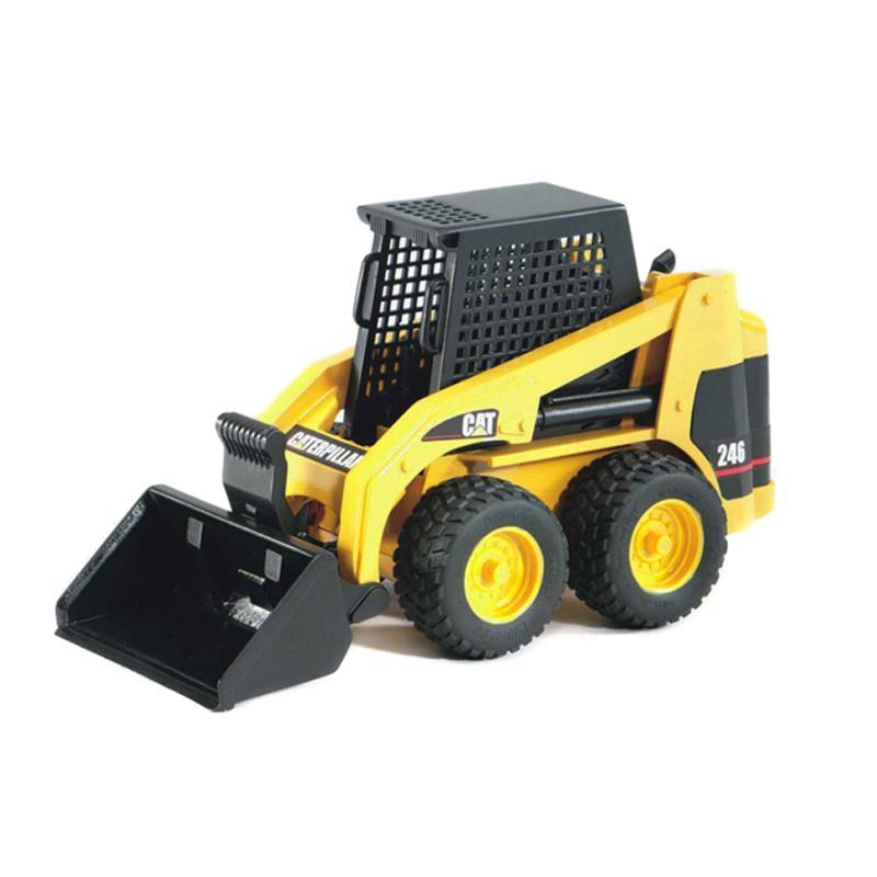 Caterpillar Skid Steer >> Amazon Com Bruder 02435 Cat Skid Steer Loader Toys Games