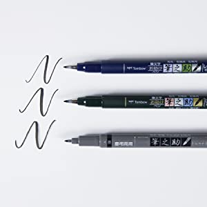 available in soft, hard and twin tip brush tips. Perfect for drawing, doodling and calligraphy
