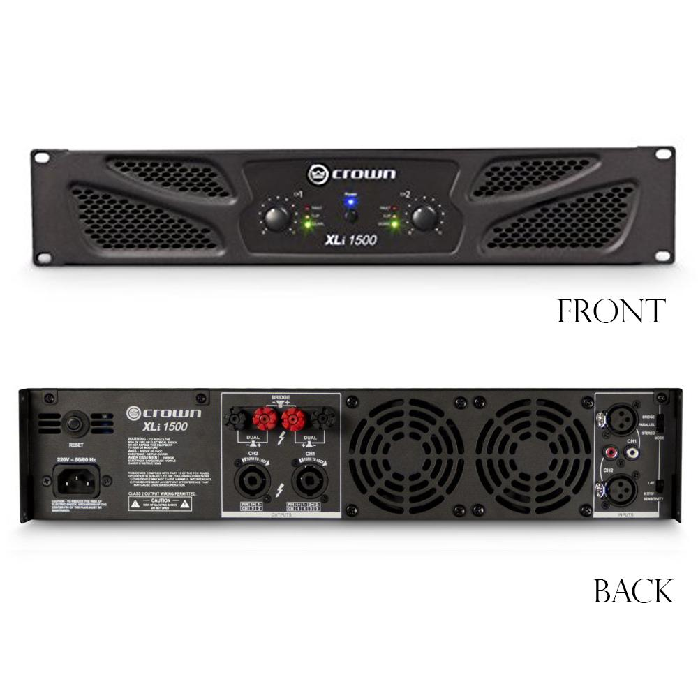 amazon com: crown xli1500 two-channel, 450w at 4Ω power amplifier     view  larger  01 honda 400ex wiring diagram