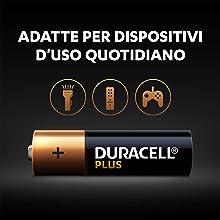 Sono batterie alcaline multifunzionali adatte per i dispositivi d'uso quotidiano.