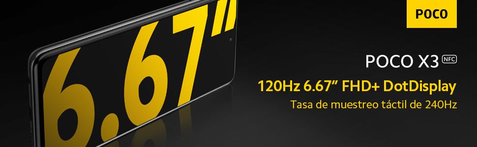 pantalla, 6.7 pulgadas,FHD,Dotdisplay,120Hz,táctil