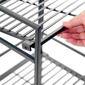 sevilleclassics clip on steel metal iron stacking lightweight storage shoe rack shelf organizer sev