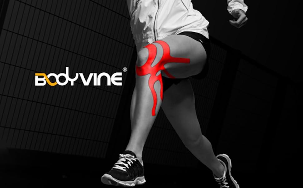 kinesio,kinesiotape,powerband,power tape,oberschenkelzerrung,joggen,radfahren,gewichtheben,laufen