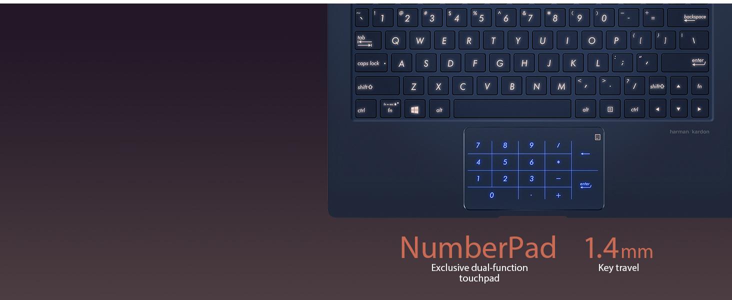 UX433 numberpad