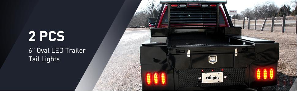 "6"" oval LED trailer tail light, turn signal light, brake light, tail light"