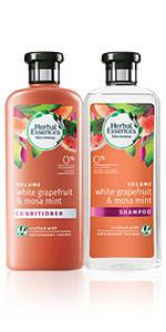 herbal essences White Grapefruit and Mosa Mint shampoo conditioner collection