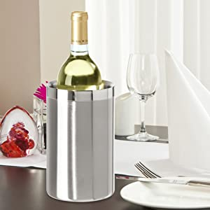 OGGI Barware Stainless Steel Wine Champagne Cooler Chiller
