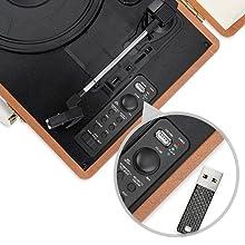 mbeat aria retro turntable player USB disk recording