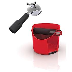 grindenstein, grind, stein, coffee, coffee stein, knock box, coffee grinds, coffee grind storage