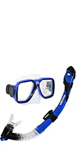 Amazon.com : Deep Blue Gear Explorer Snorkel Set : Sports