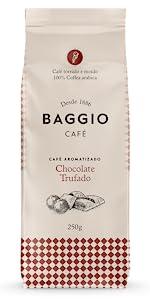 Chocolate Trufado Baggio Café aromatizado torrado e moído