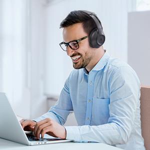 TaoTronics SoundSurge 55 Headphones Office Mode