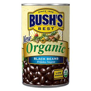 Bushs Best Organic Black Beans, 15 oz (12 cans)