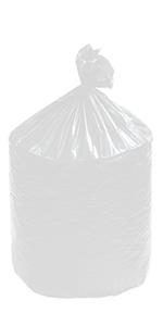 "36 x 58"" Clear 55 Gallon Trash Liner"