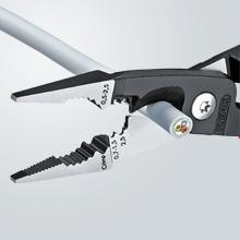 Orificios para pelar conductores de 0,75 hasta 1,5 y de 2,5 mm²