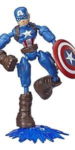 Bendy Figures; Captain America;