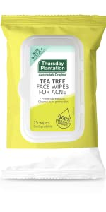 tea tree cleanse Wipes acne pimple impurities
