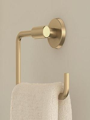 Towel Bar in Brushed Bronze//Golden Champagne Amerock Arrondi 9 in