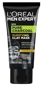 L'Oréal Men Expert, Pure Charcoal, Clay Mask, Purifying Charcoal, Kaolin, Black