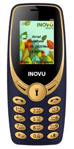 Inovu A9 blue, feature mobile phone, keypad phone, basic mobile, dual sim phone, keypad mobile phone