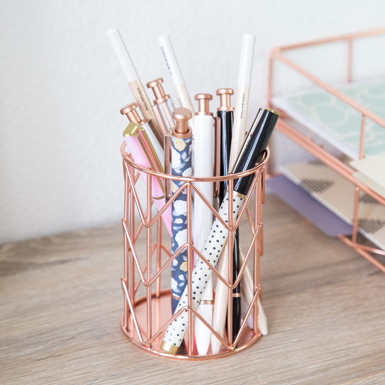 Attractive Pencil Cup, Pencil Cup Holder, Copper Pencil Cup, Wire Pencil Cup, U