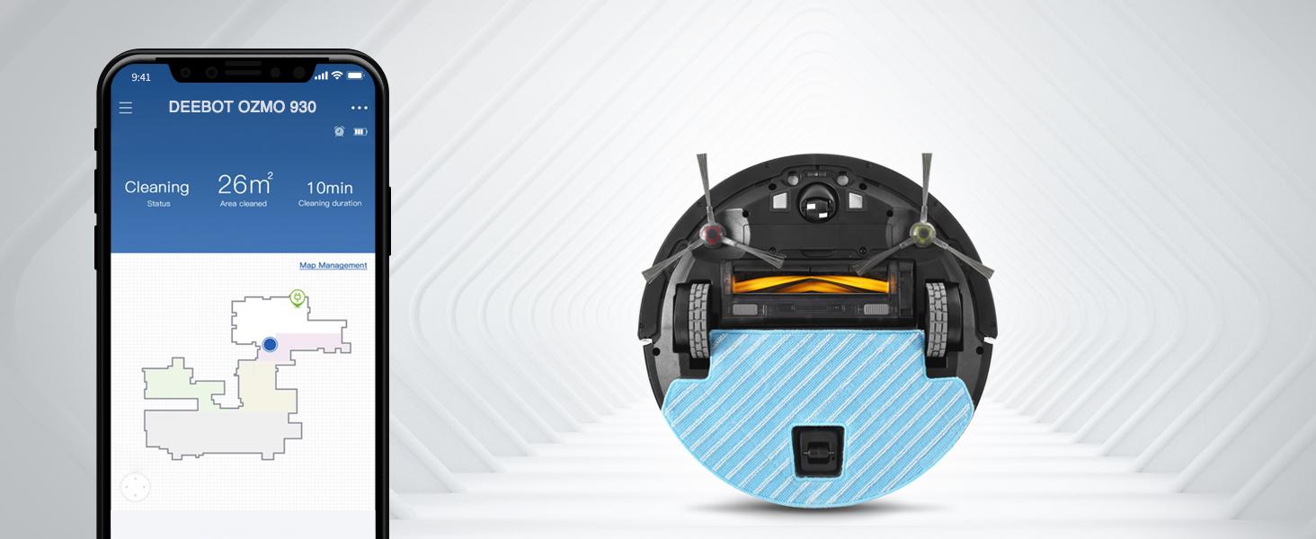 Ecovacs Deebot OZMO 930 - Robot Aspirador 4 en 1: barre, aspira ...
