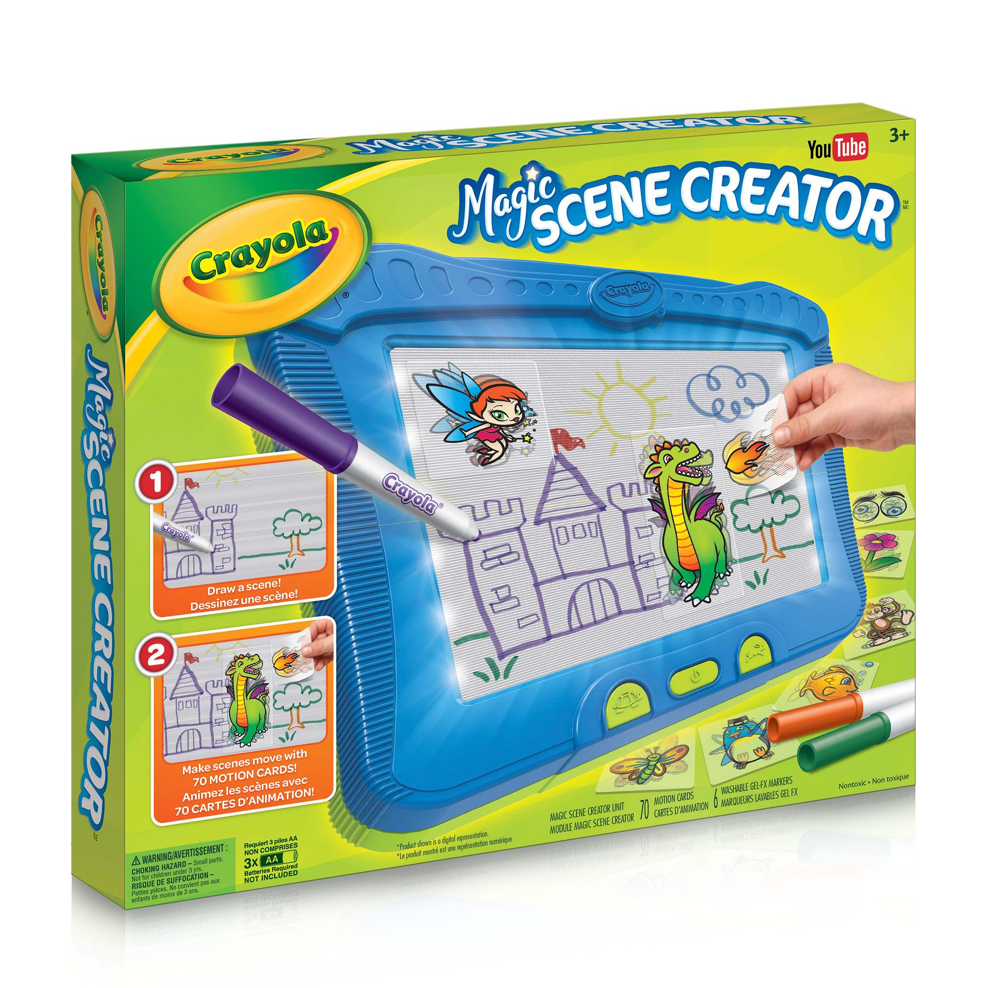 Crayola Magic Scene Creator Drawing Kit for Kids Creative Toys