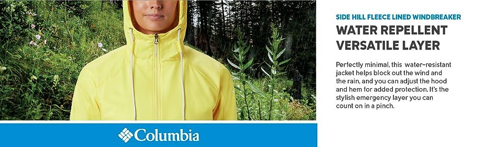 Columbia Women's Side Hill Fleece lined Windbreaker