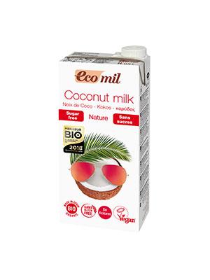 leche de coco bio, bebida de coco sin azucares