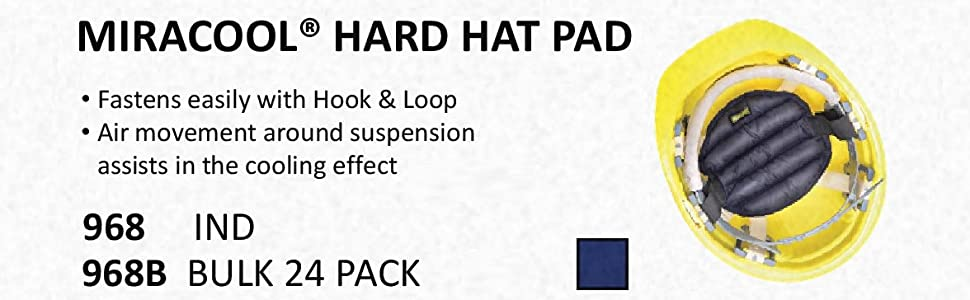 abef2b440ee OccuNomix 972-KHK MiraCool 3-in-1 Comfort Cooling Hard Hat Pad ...