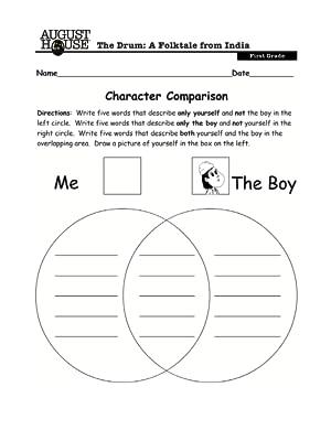 education, teachers, students, lesson plan, Indian folktale, 1st grade, character comparison