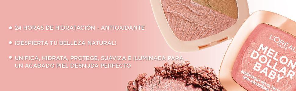 rubor, rubor en polvo, glow, iluminador, blush, blush loreal, blush natural, maquillaje natural