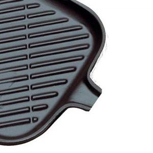 Le Creuset Parrilla Grill de Hierro Fundido, Rectangular, 36 x 20 cm, Apto para Todas Las Fuentes de Calor, Incl. inducción, Negro Mate
