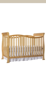 dream on me, cribs, full size, standard, 7 in 1 convertible, toddler bed, day bed, violet