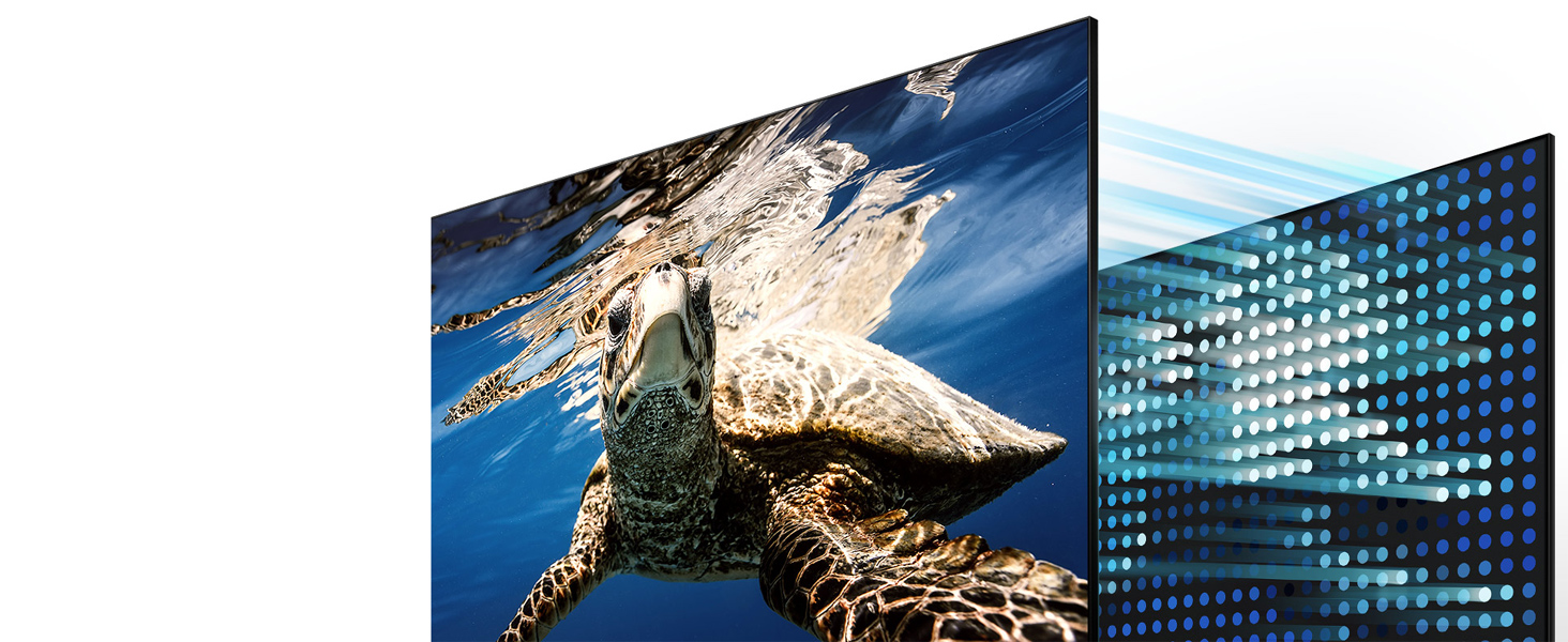 Illustration of the backlights in the QLED TV