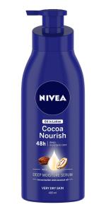 cocoa nourish, body lotion, nivea
