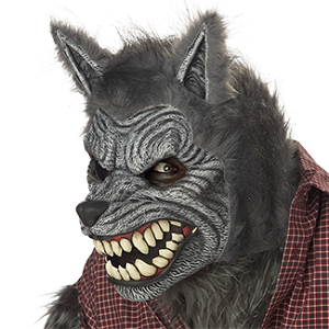 California Costumes, Ani-Motion, Mask, Werewolf, Movable Mask, Moving Mask, Halloween, Wolf