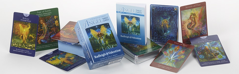 angel tarot cards deck radleigh valentine positive beautiful illustrations hay house louise hay