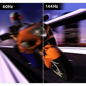 ライバルに差をつける144Hzの高速リフレッシュレート