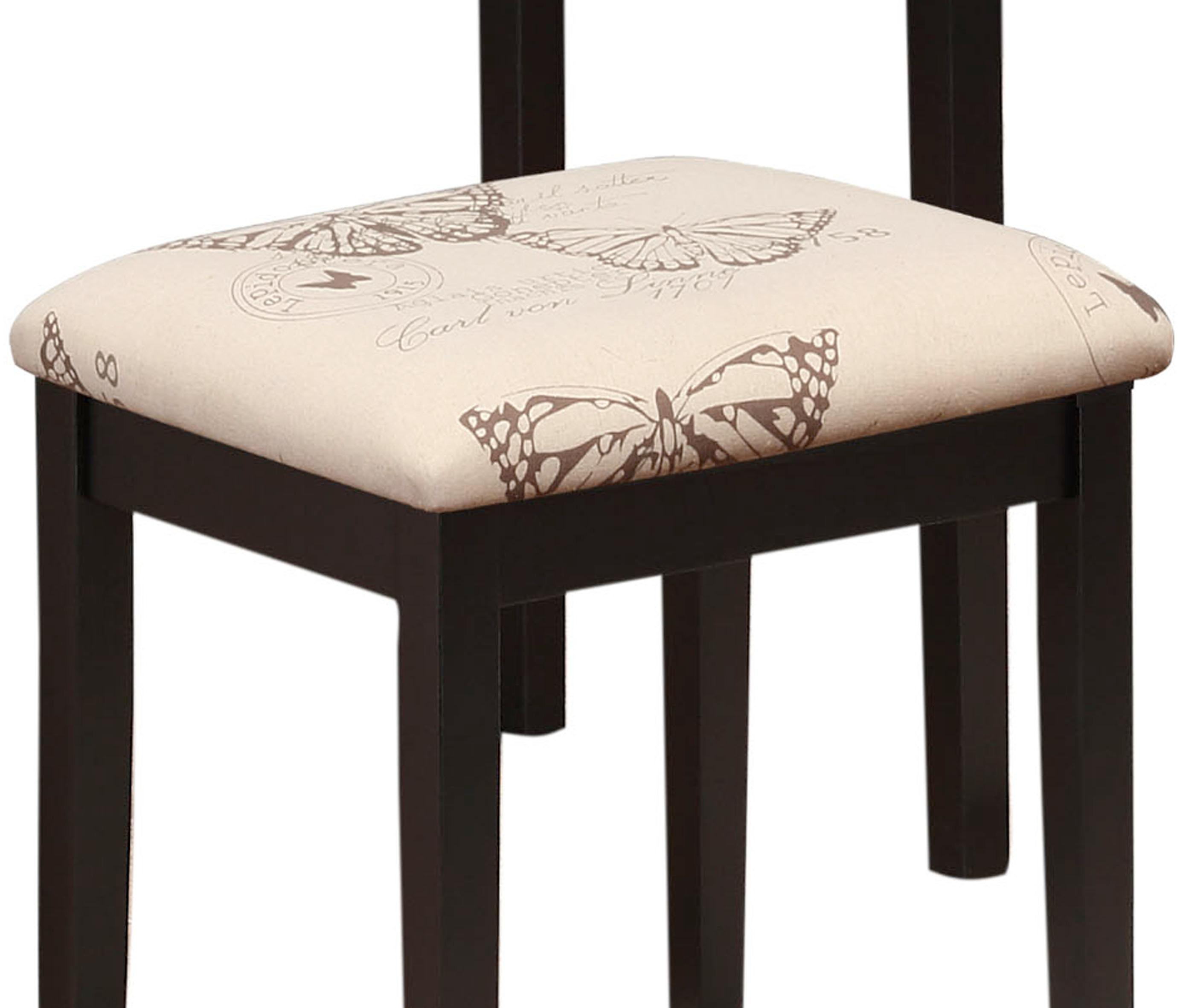 Amazon.com: Linon Home Dcor Linon Black Butterfly Stool