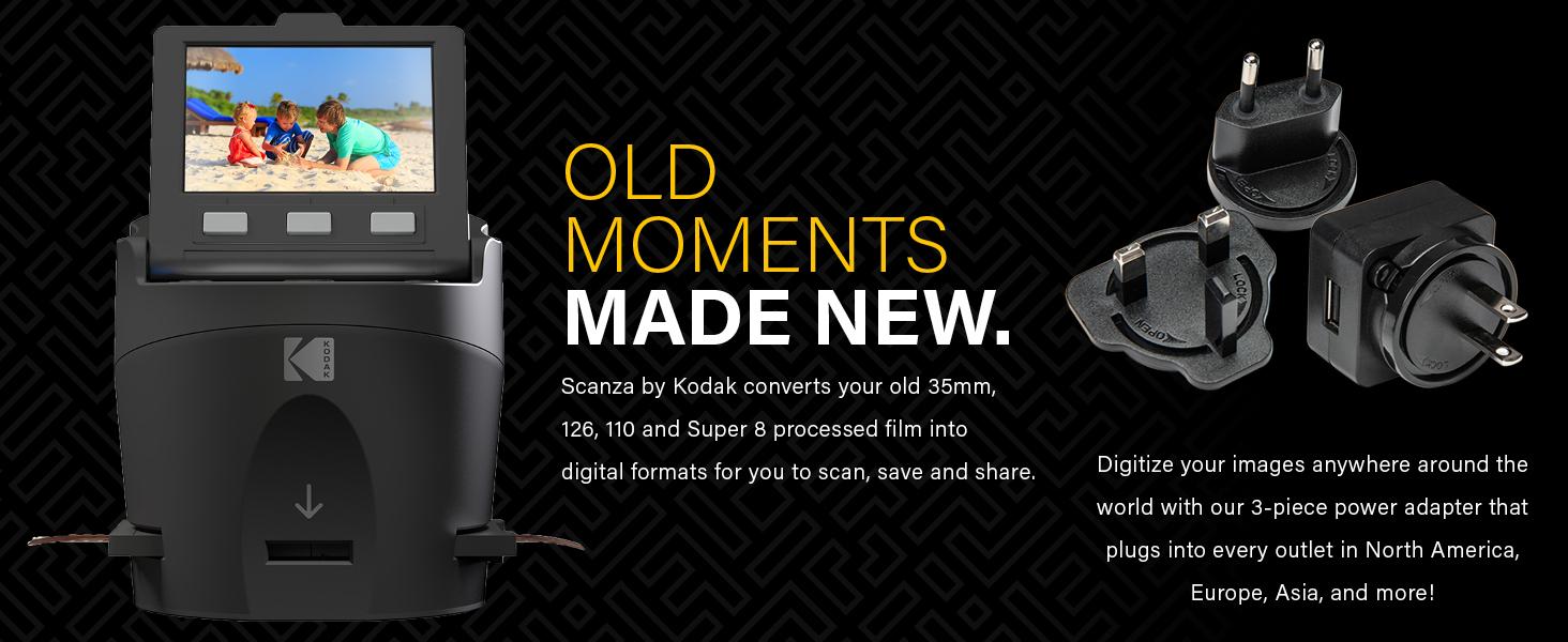 Scanza, Kodak scanner for film 35mm 120 110 super8 super 8 negative scan preserve photo machine for