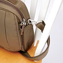 Turn & Lock Hook plus Carrysafe strap allow you to secure your bag to prevent theft